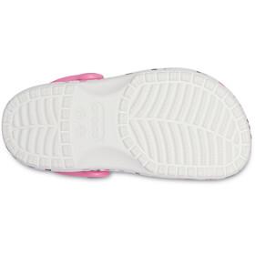 Crocs Classic Heart Print Clogs Kids, white